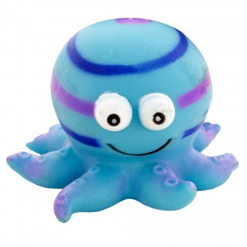 Dog Toy Octopus Squeaker Blue Small-Medium 3""