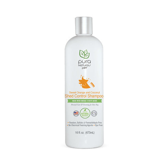 PURE & Natural Dog Shampoo Shed Control Orange & Coconut 16oz