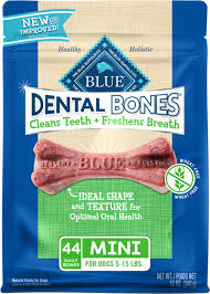 Blue Buffalo Dental Bones All Natural Mini Dog Treats, 44 count