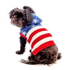 Dog Sweater Patriotic USA American Flag