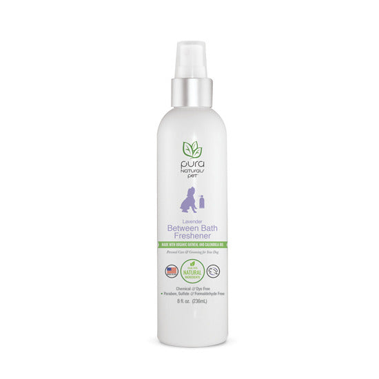 PURE & Natural Dog Bath Freshener between bathing Spray Lavender Organic