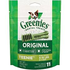 Greenies Teenie Dental Dog Treats 3oz./11 Dental Treats