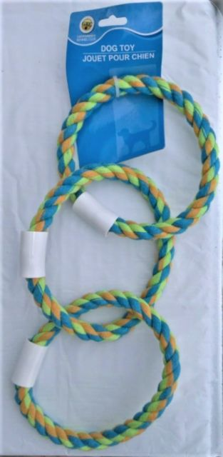 Dog Toy Rope Triple Rings
