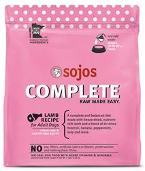 Sojos Complete Lamb Recipe Adult Grain-Free Freeze-Dried Raw Dog Food