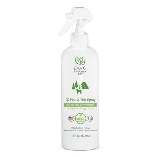 PURE & Natural Dog Flea & Tick Organic Dog Spray 16 oz