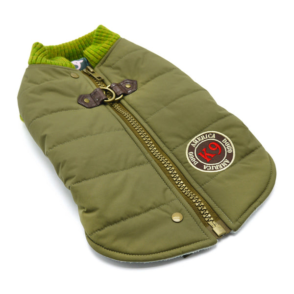 Dog Coat Army Green Water Resistant