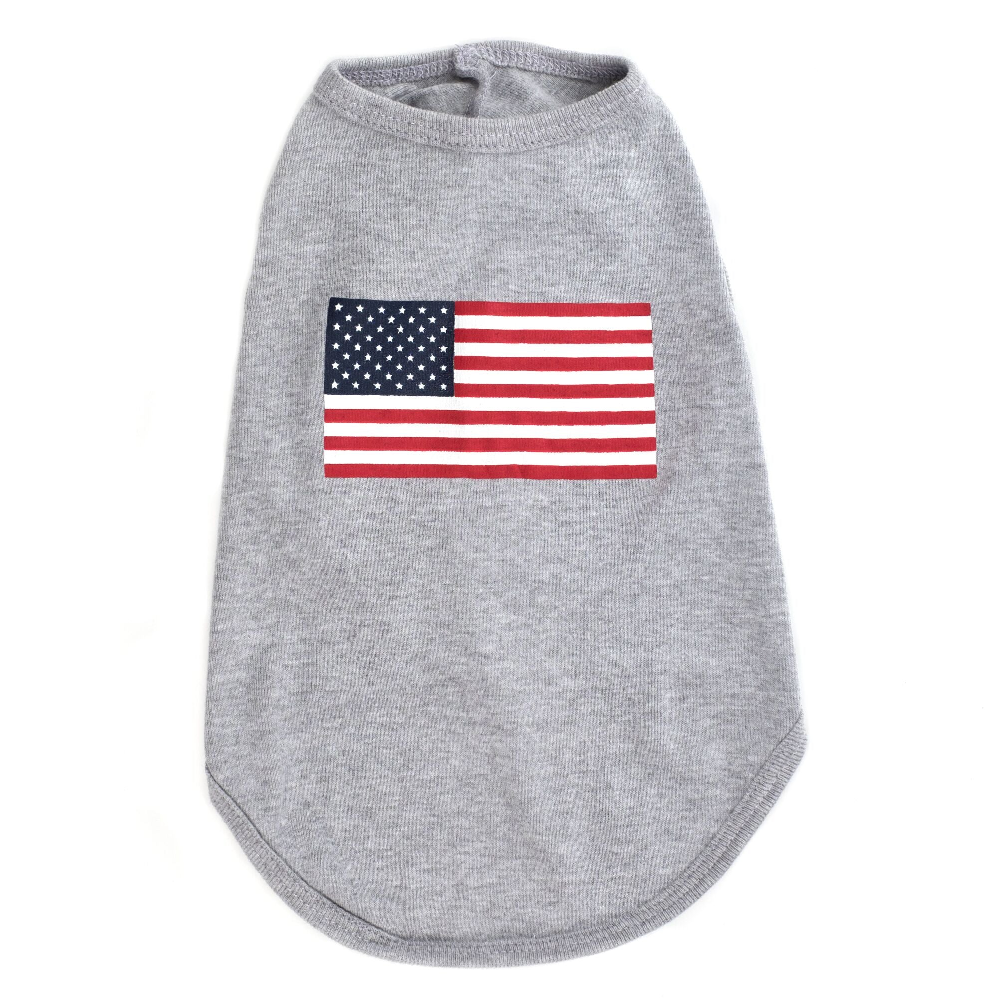 Dog Tank Top USA American Flag by The Worthy Dog