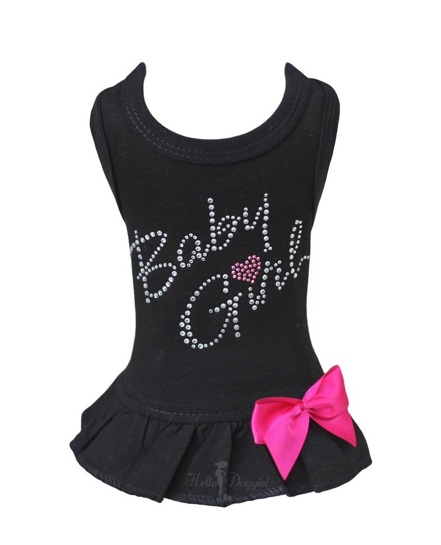 Luxury Dog Dress Black Baby Girl