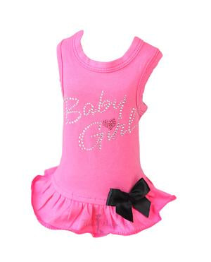 Luxury Dog Dress Fuschia Pink Baby Girl