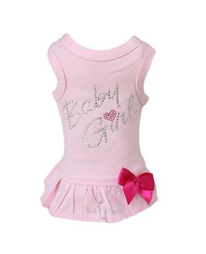 Luxury Dog Dress Pink Baby Girl