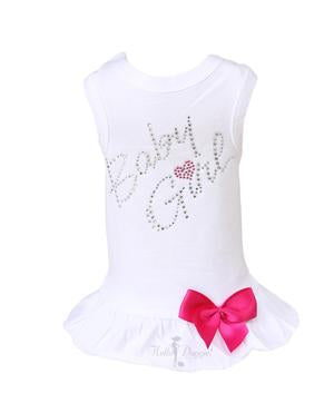 Luxury Dog Dress White Baby Girl