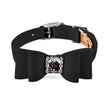 big bow collar black