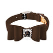 big bow collar brown