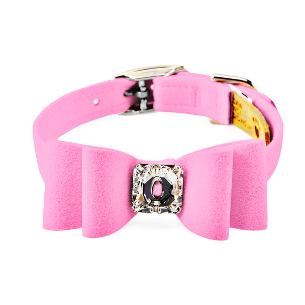 big bow collar perfect pink