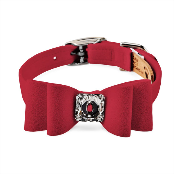big bow collar red