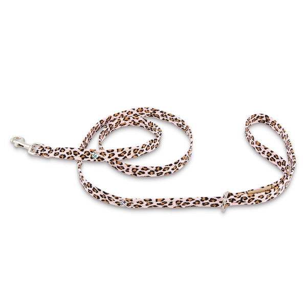 Cheetah Couture Crystal Paws Leash Pink