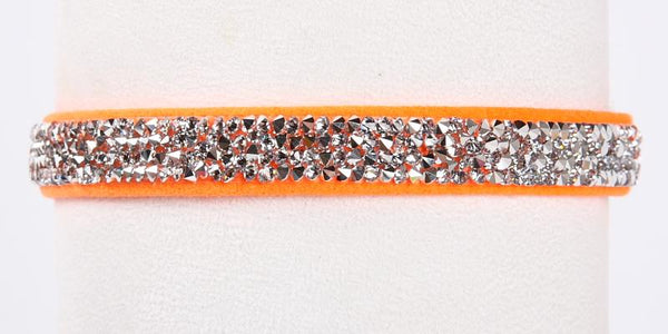 Crystal Rocks Collar electric orange