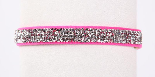 Crystal Rocks Collar electric pink