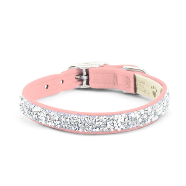 Crystal Rocks Collar puppy pink
