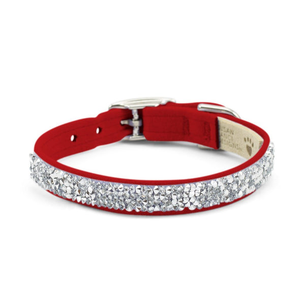 Crystal Rocks Collar red
