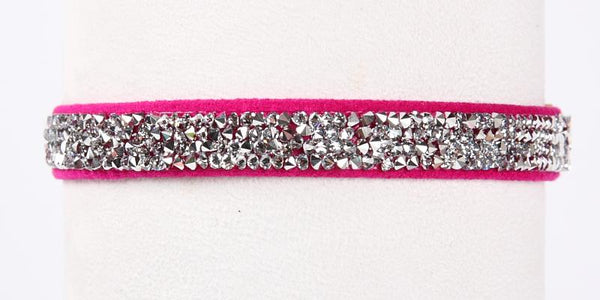 Crystal Rocks Collar wine and roses