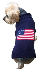 Dog Sweater Navy Patriotic USA Flag