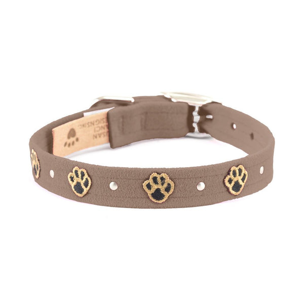 Embroidered Paws Collar fawn