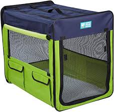 Dog Soft Crate Soft Collapsible by Guardian Medium Green Blue