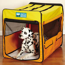 Dog Soft Crate Soft Collapsible by Guardian Gear® Large Orange Yellow