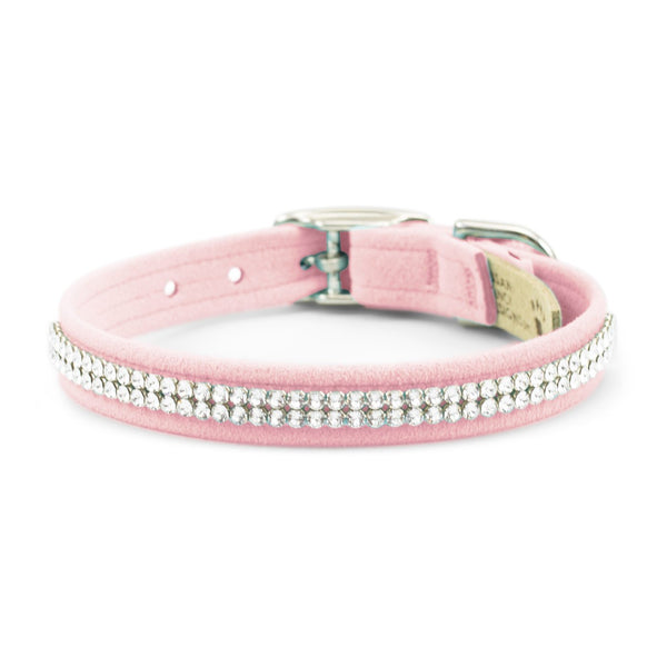 Giltmore Collar 2 row puppy pink