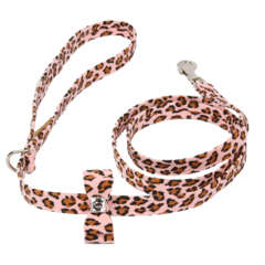 Luxury Dog Leash Pink Cheetah Couture Swarovski Crystals® Ultrasuede
