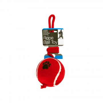 Dog Toy Jumbo Ball with Rope Red, Blue