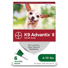 K9 Advantix II Veterinarian-recommended to kill Fleas, Flea Larvae, Ticks, Mosquitoes, Lice, waterproof Pack of 4 count