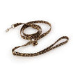 Luxury Dog Leash Brown Cheetah Swarovski Crystal® Ultrasuede