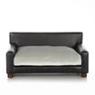 Luxury Black Dog Bed Couch Orthopedic White Velvet Cushion by Club Nine Pets