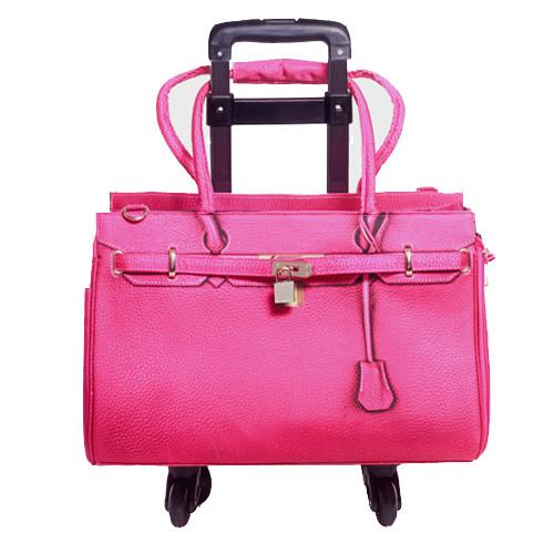 Luxury Dog Carrier Pink Airline Approved Wheels