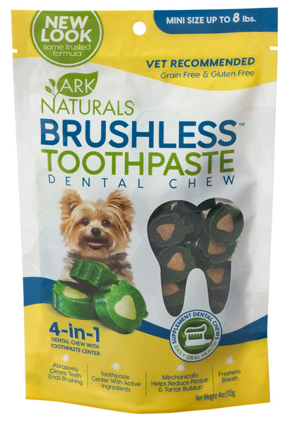Ark Naturals Brushless Toothpaste Dental Dog & Puppy Chews Mini