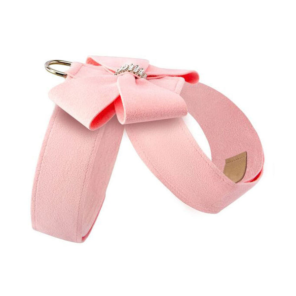 Nouveau Bow Tinkie Harness puppy pink side view