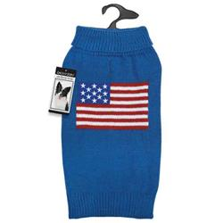 Dog Sweater USA Flag Red White Blue