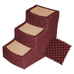 Dog Stairs with Removable Cover  2-Step and 3-Step Green, Burgundy, Beige