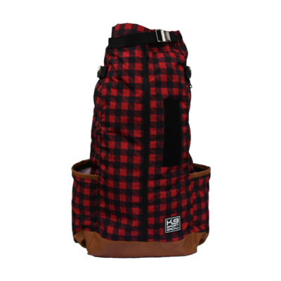 K9 Sport Sack Red Buffalo Plaid Urban Forward Facing Backpack Dog Carrier
