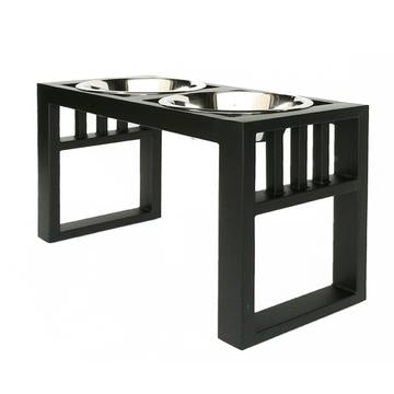 Designer Heavy Duty Elevated Large Dog Diner Double Bowls