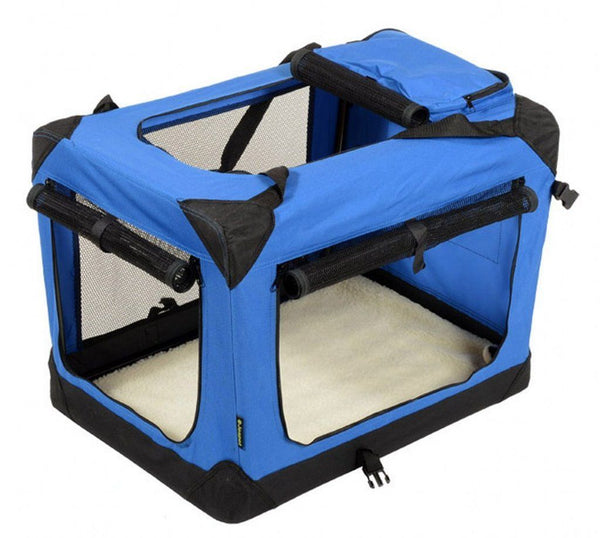 Jespet Dog Soft Crate Blue Black