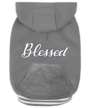 "Dog Hoodie Grey ""Blessed"" by Parisian Pet"