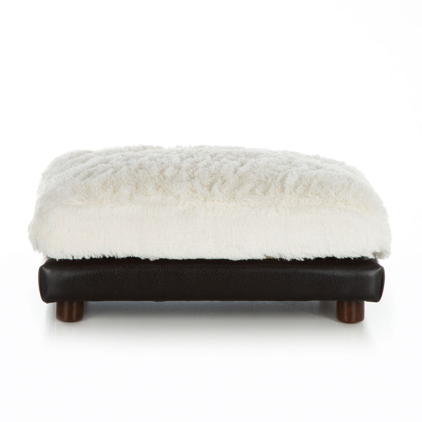Dog Bed Black Ottoman Orthopedic White Cushion