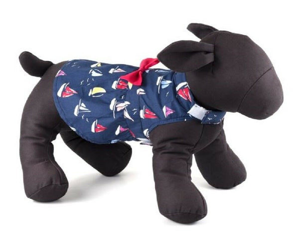 Dog Dress Navy Nautical Colorful Sailboats XS-XXL