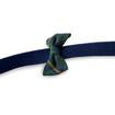Luxury Designer Dog Harness Plaid Bow Blue Yellow Green