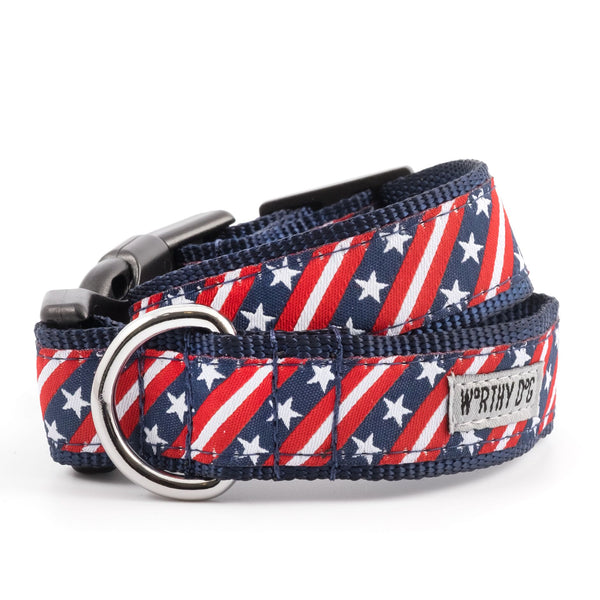 Dog Collar American Flag with Stars & Stripes