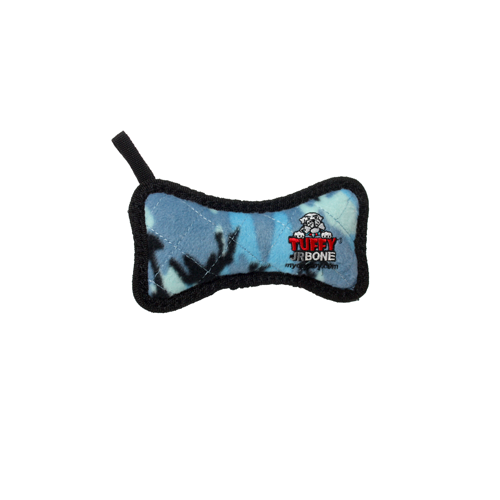 Dog Toy Blue Camo Fleece Bone