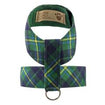 Luxury Dog Harness Plaid Green, Yellow, Blue Ultrasuede®